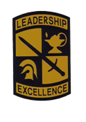 ROTC badge: leadership, excellence